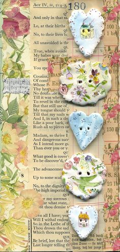 Floral buttons - Julie Whitmore