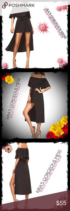 ✨BNWT OFF SHOULDER ROMPER/DRESS✨ ✨BNWT OFF SHOULDER ROMPER/DRESS✨.                  100% Polyester.  Ruffle sleeve, belt. Suit for beach, party. Casual wear.Size Chart:  Small: Length: 55.5 inch, Bust: 42.1 inch, Sleeve Length: 8.9 inch, Hip Size: 44.1 inch, Waist Size: 42.1 inch  Medium: Length: 55.9 inch, Bust: 43.7 inch, Sleeve Length: 9.3 inch, Hip Size: 45.7 inch, Waist Size: 43.7 inch  Large: Length: 56.3 inch, Bust: 45.3 inch, Sleeve Length: 9.6 inch, Hip Size: 47.2 inch, Waist Size…