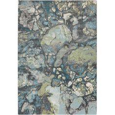 Surya Aberdine Gray & Teal Area Rug | AllModern