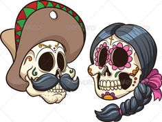 mexican skulls - Mexican Halloween Skulls