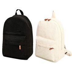 fcf5fda33b01 Девушка школьные сумки для подростков Симпатичные Холст Женщины Рюкзак  (черный) купить недорого в интернет