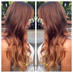 Copper ombre, pretty, maybe I could do a touch of more red