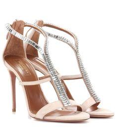 Nudefarbene Sandaletten Constance 105 aus Veloursleder