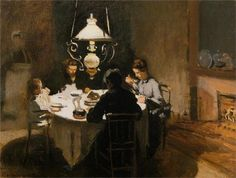 The Dinner (1869) Claude Monet French (1840 - 1926)