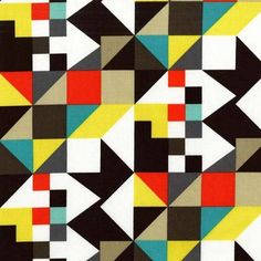 Tissu Tangram clem x Quilting Projects, Quilting Designs, Triangles, Art Deco Print, Rainbow Quilt, Collage, Michael Miller Fabric, Motif Design, 2d Design