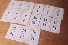 Wedding Table Numbers Vintage Number Cards by LizzieTishVintage, $7.50