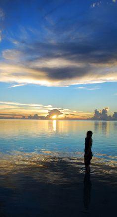 Sunset, Cook Islands - blue www.famaser.com