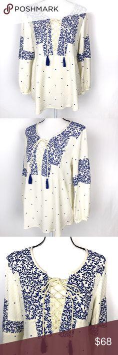 ♥ Italy Tunika Damen kurz Carmen Bluse Streifen gestreift hellblau 36 38 40 S M