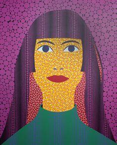 Yayoi Kusama, Self Portrait (TWAY) (2010)  Acrylic on canvas, 227.3 x 181.8cm
