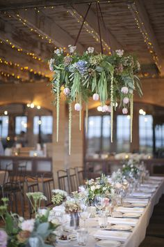 Greenery Wedding Ideas That Are Actually Gorgeous---diy wedding reception decorations with hanging greenery chandelier, spring or summer garden weddings country barn weddings, country backyard weddings Barn Wedding Decorations, Wedding Reception Decorations, Wedding Centerpieces, Wedding Table, Wedding Ideas, Wedding Venues, Floral Wedding, Wedding Flowers, Flower Chandelier