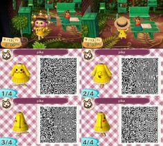 Animal Crossing New Leaf QR Code Pikachu sweater dress. Pokemon.