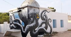 Er-Riadh, a small village off of the beaten tourist path on the island of Djerba in Tunisia, was paid a visit by an unlikely bunch of guests – 150 street artists from 30 countries around the world.
