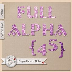 Purple Pattern | Upper Case Alpha | Purple | Journals | Planners | Full Commercial Use