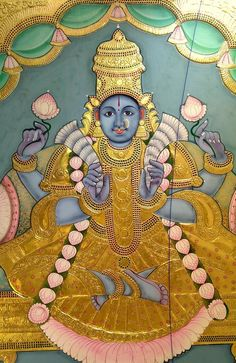 Eight Massive 11 ft Ashtalakshmi Tanjore Paintings made by us in record 18 days A feat that was never achieved before. No one thought it was even remo Mysore Painting, Madhubani Painting, Indian Gods, Indian Art, Indian Paintings, Oil Paintings, Hindu Art, Kali Hindu, Watercolor Paintings Abstract