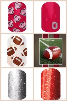 Get ready for Ohio State Buckeye football season with Jamberry nails. Order it ask questions at catherineexline.jamberrynails.net
