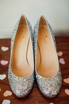 Glittery wedding shoes: http://www.stylemepretty.com/little-black-book-blog/2015/01/08/colorful-summer-santa-barbara-wedding/ | Photography: Ashleigh Taylor - http://www.ashleightaylorphotography.com/
