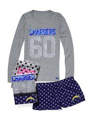 San Diego Chargers Tee & Boxer Gift Set