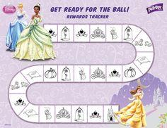 Potty training chart.  Nothing like motivational princesses... ;)
