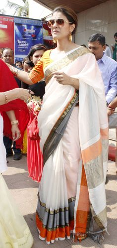 Kajol : Photos: Kajol and family members celebrate Durga Puja