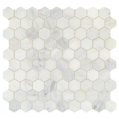 Addison Place White Lux Blend 11-3/4 Inch x 12-7/8 Inch x 8 mm Stone Hexagon Mosaic Tile