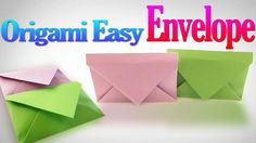 How to Make a Very Easy Origami Envelope Step by Step | Origami VTL
