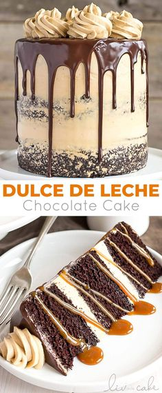 The ultimate combo of chocolate and caramel come together in this delicious chocolate dulce de leche cake livforcake com 24 snazzy grown up adult birthday party ideas Cupcake Recipes, Baking Recipes, Cupcake Cakes, Dessert Recipes, Muffin Cupcake, Birthday Cake Recipes, Drip Cake Recipes, Cookie Cakes, Cake Icing