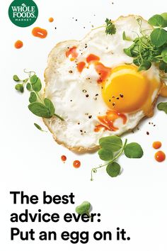 When in doubt, put an egg on it. Fried rice, quinoa salad, breakfast pizza – it's all better with an egg on it. #Eggs #MakesMeWhole
