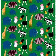 Iso Tiikoni fabric, green