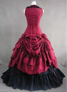 Sleeveless Square Neck Black Gothic Lolita Dress With Bow Knots And Ruffles