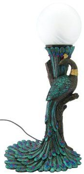Art Nouveau peacock lamp Learn about your collectibles, antiques, valuables, and…