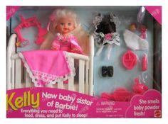 Mattel Barbie KELLY Baby Sister of Barbie! Set (1994)