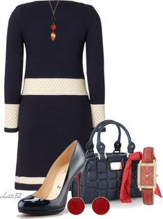 """""""Navy and Red"""" by christa72 on Polyvore"""