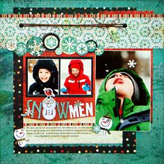 snowmen scrapbook layout love the title with the snowman