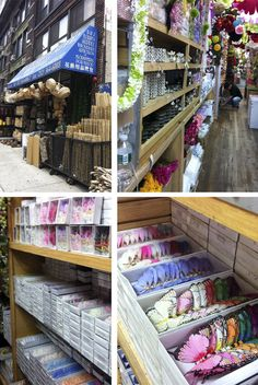 B Florists Supply in NYC.  Must go there. Take lots of money!