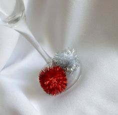 New Year's Party Decorations, Wine Glass Decorations, Festive Wine Charms, 20pcs. $50.00, via Etsy.