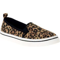 03efb4f9913 Faded Glory - Girl s Leopard Slip-on Shoe - Walmart.com