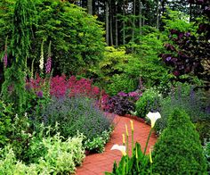 Garden paths:  Wiiden a path as it rounds a corner to make your yard feel bigger. Or if you have a long, straight path, design it to narrow slightly at the far end.