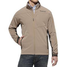 Men's Ariat Tan Softshell Jacket
