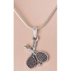 Sterling Silver. Makes a great gift for your budding tennis star.