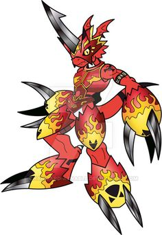 Flamegrowlmon by charizard-aznable on DeviantArt