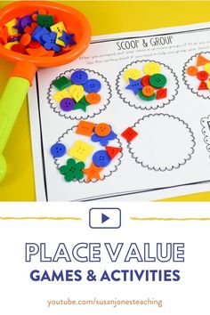 This video is filled with place value games, activities, and ideas for kindergarten, first grade, and second grade! There is also a free game you can grab at the end! Click to watch the video!