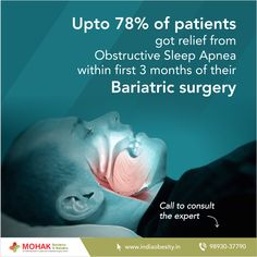 Obstructive Sleep Apnea (OSA) causes uneven shallow breaths while you sleep. Obesity is considered to be a major reason of its development and progression. If you are also suffering from sleep apnea, consult a bariatric surgeon on 98930-37790 and get it cured.  #sleepapnea #snoring #bariatric #surgery #weightloss #sleepless #insomnia #consult #expert #doctor #surgeon #obesity #healthy #fattofit