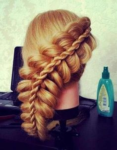 "Really cool hairstyles! I wonder if I could do this without ""pulling my hair out"" har har ;)"