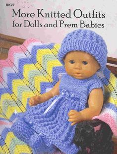 Craft Moods craft patterns, crochet, knitting and candlewicking books and Paragon crochet, tatting and knitting books plus a range of crochet patterns, discontinued crochet magazines and crochet books plus second hand books. Knitted Doll Patterns, Knitted Dolls, Baby Knitting Patterns, Crochet Dolls, Baby Patterns, Crochet Baby, Craft Patterns, Knitted Baby, Crochet Patterns
