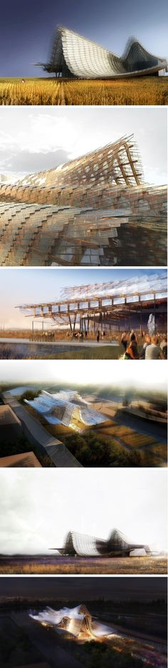 """The Land of Hope"", the theme for the China Pavilion at @Expo2015Milano  by Studio Link-Arc"