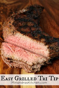 Tri-tip is great for grilling. A easy flavorful marinade and quick cooking time make this delicious beef perfect for date night, family dinner or a party. It is also wonderful for toasted sandwiches or in hearty salads. Grilling Recipes, Beef Recipes, Cooking Recipes, Bison Recipes, Savoury Recipes, Cooking Ideas, Easy Recipes, Chicken Recipes, Bon Appetit