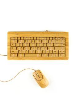 woody keyboard & mouse set NATUAL
