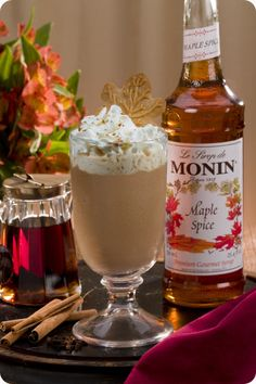 Maple spice latte with Monin Syrup