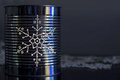 tin can snowflake lantern - Google Search