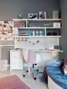 17 functional study station with open shelving and drawers for storage - DigsDigs